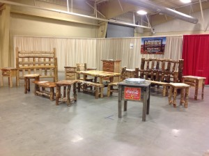 Photo of one of our show booths